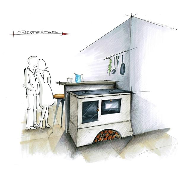 Küchenherd Herd Einbau Feuerstelle Kochen
